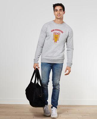 Sweatshirt homme Demi d'ouverture
