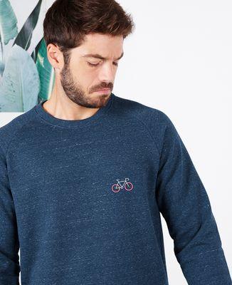 Sweatshirt homme Vélo tricolore (brodé)