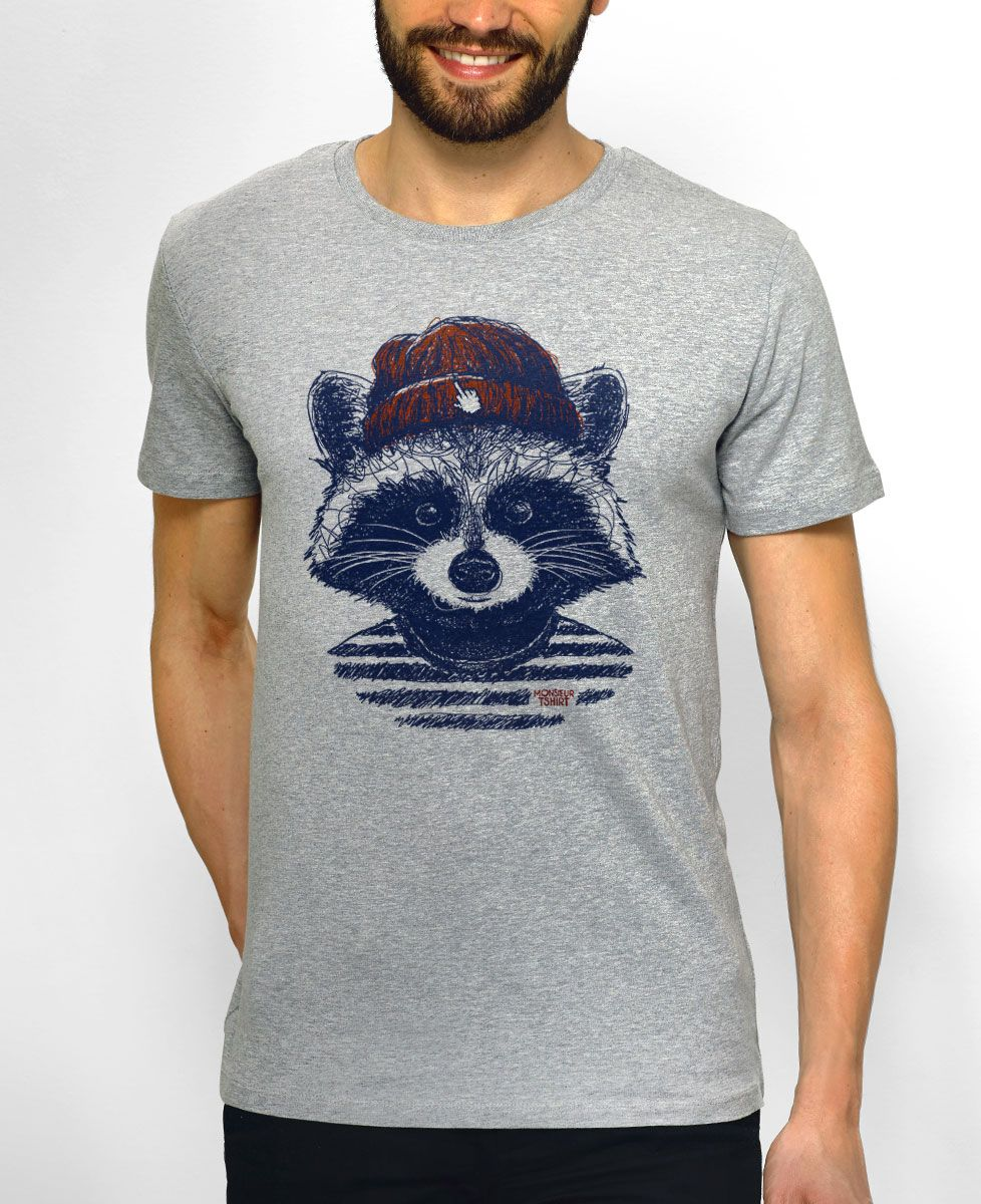 T-Shirt homme Raton hipster
