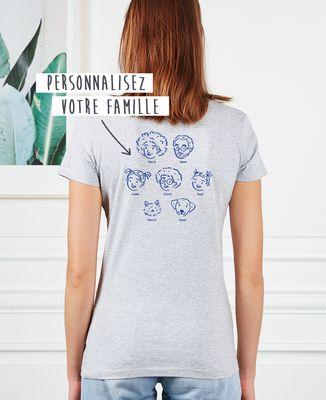 T-Shirt femme Ma famille d'amour personnalisé
