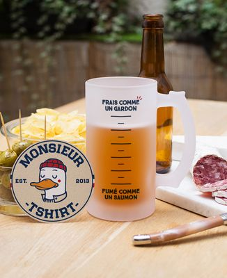 Chope de bière Frais comme un gardon