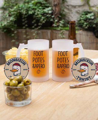 Chope de bière Foot potes & apéro