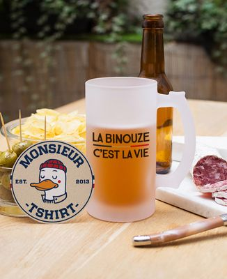 Chope de bière La binouze c'est la vie