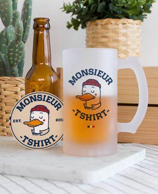 Chope de bière Monsieur TSHIRT Duck