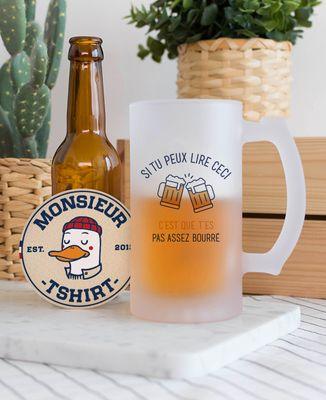 Chope de bière Si tu peux lire ceci