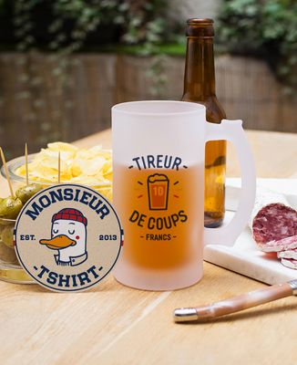 Chope de bière Tireur de coups-franc