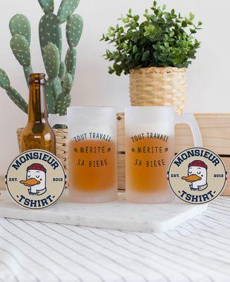 Chope de bière Tout travail mérite sa bière