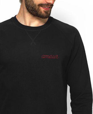 Sweatshirt homme Amour brodé