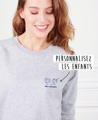 Sweatshirt femme Mes enfants personnalisé