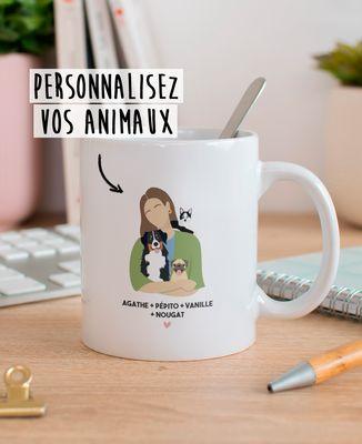 Mug Mes animaux personnalisé