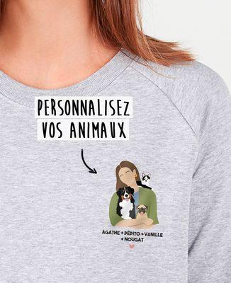 Sweatshirt femme Mes animaux personnalisé
