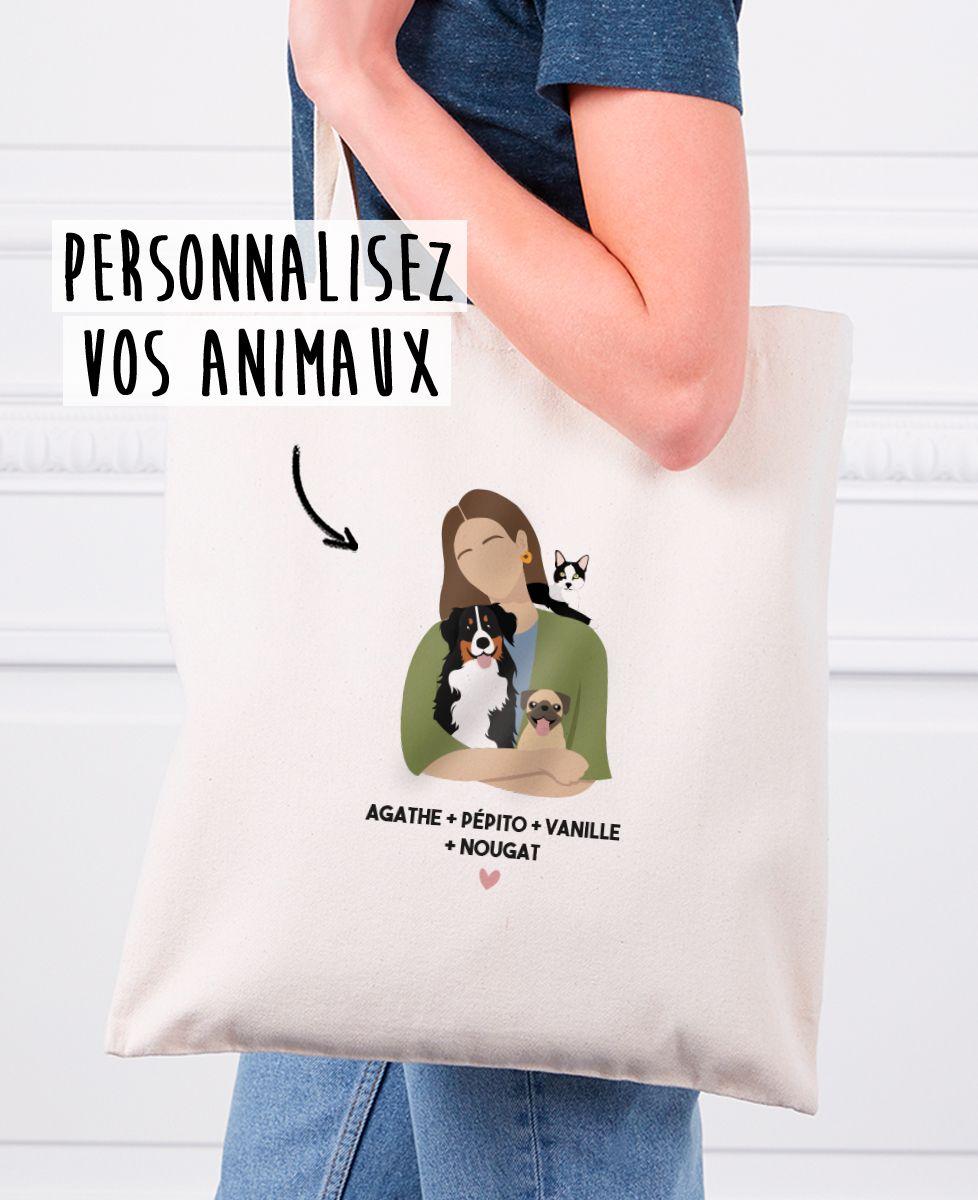 Tote bag Mes animaux personnalisé