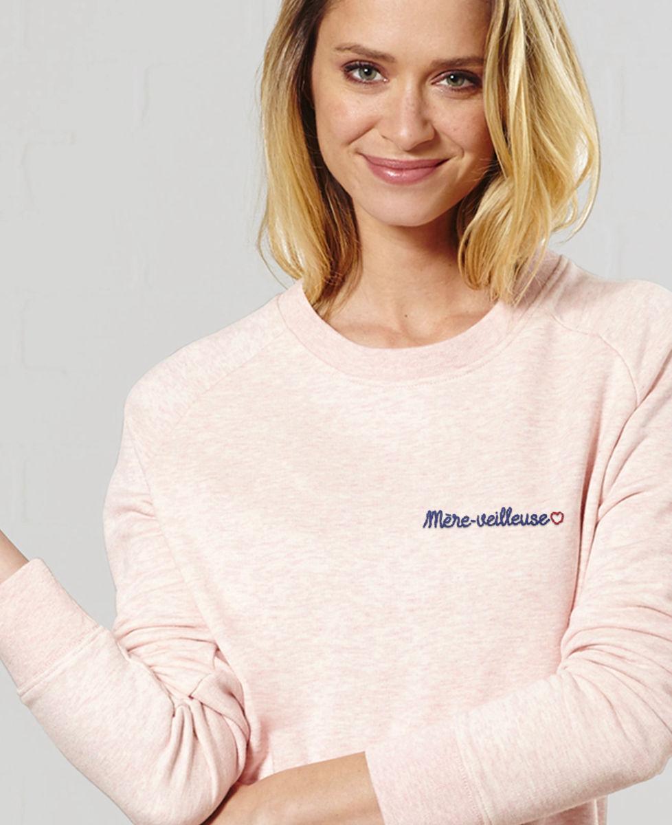 Sweatshirt mère-veilleuse brodé