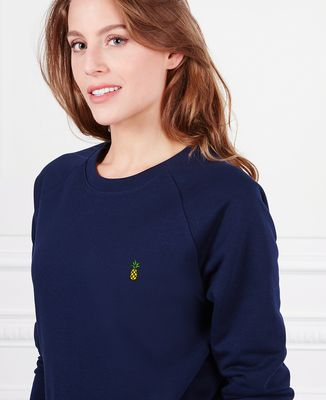 Sweatshirt femme Ananas (brodé)