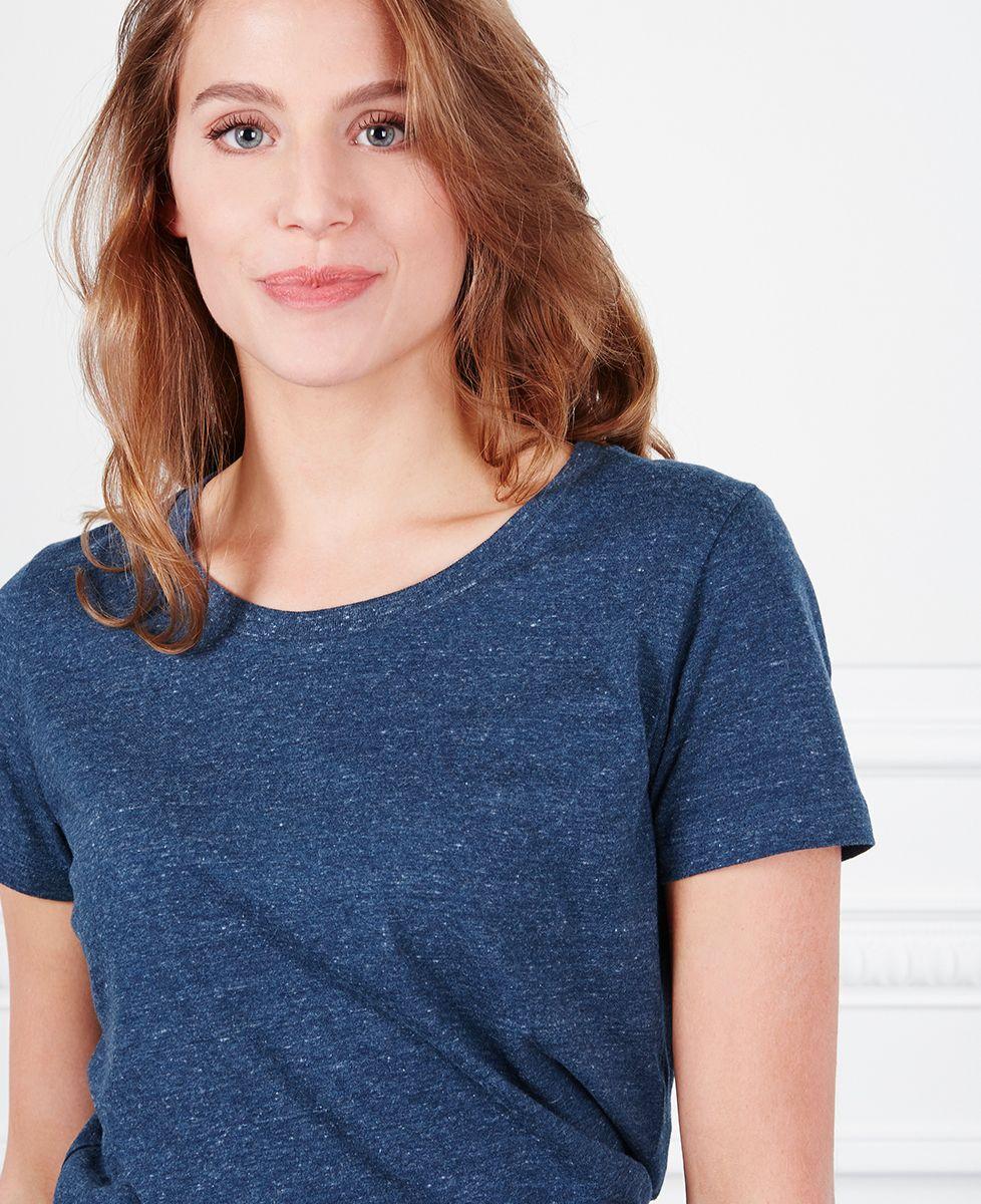 T-Shirt femme Coeur brodé personnalisé