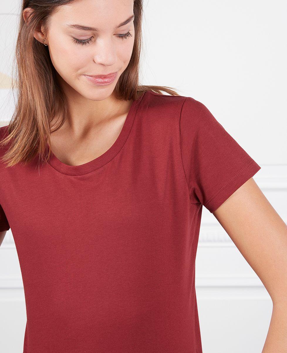 T-Shirt femme Grand coeur brodé personnalisé