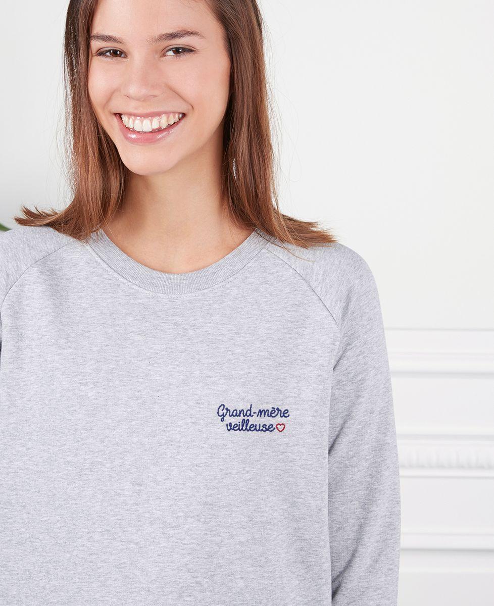 Sweatshirt femme Grand-mère veilleuse (brodé)