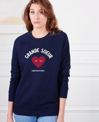 Sweatshirt femme Grande soeur mais petite peste