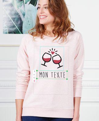 Sweatshirt femme Imprimé personnalisé