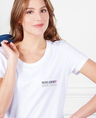 T-Shirt femme Petite soeur grande gueule (brodé)