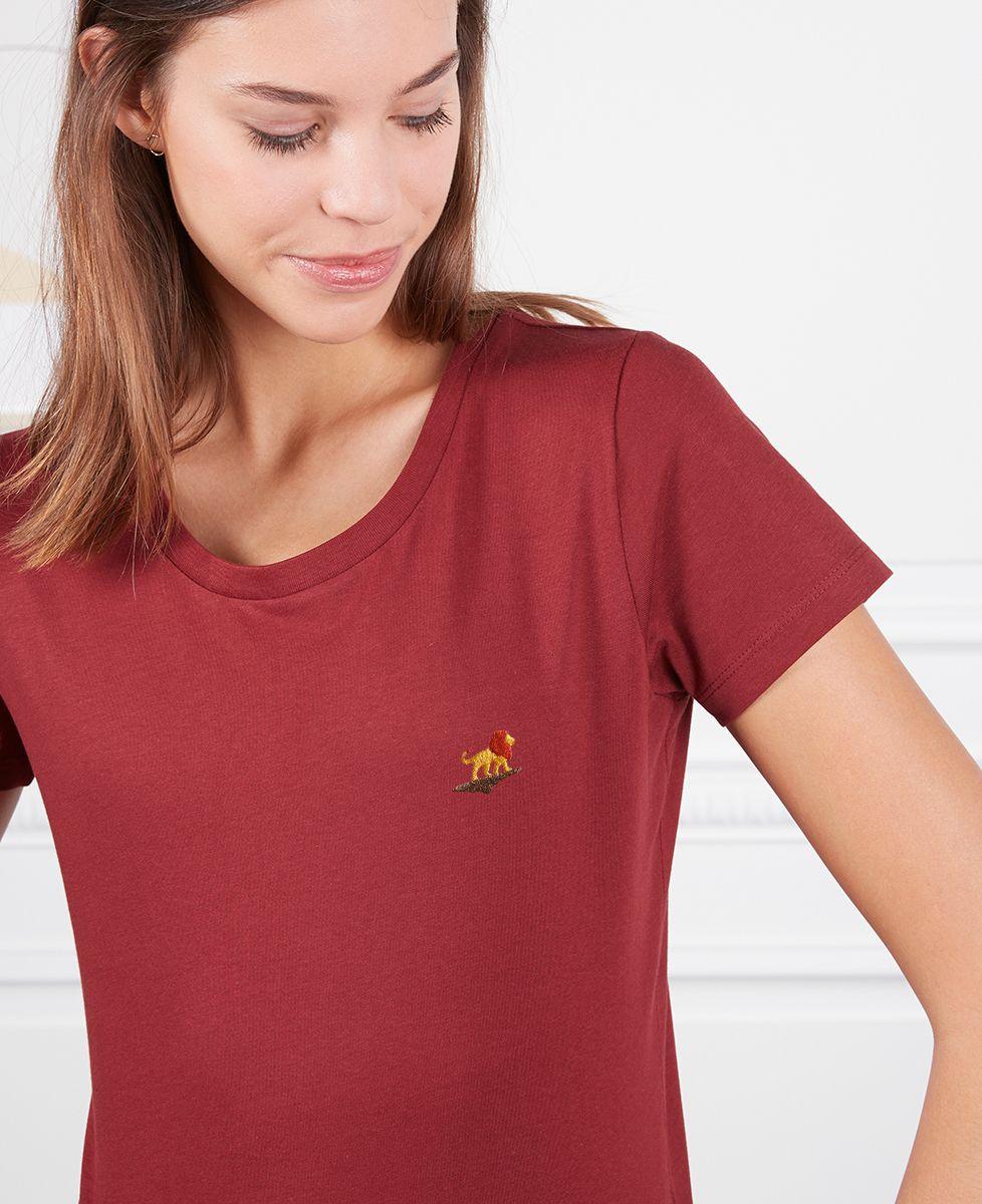 T-Shirt femme Lion rocher (brodé)