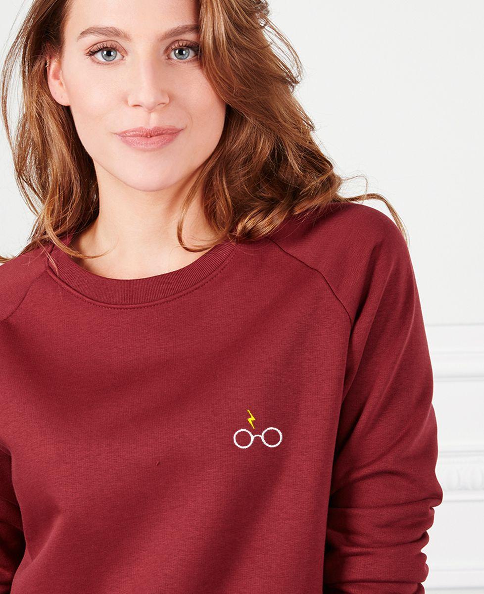 Sweatshirt femme Lunettes Harry (brodé)