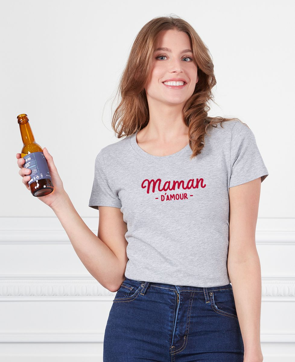 T-Shirt femme Maman d'amour I