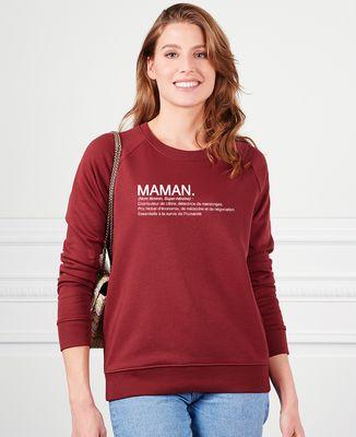 Sweatshirt femme Maman définition