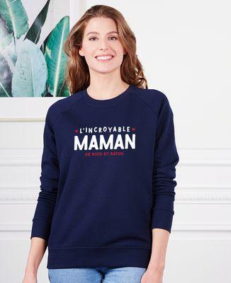 Sweatshirt femme L'incroyable maman personnalisé