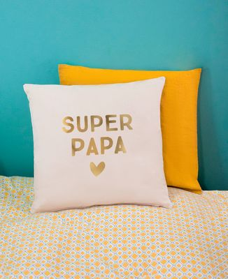 Coussin Super Papa (effet doré)