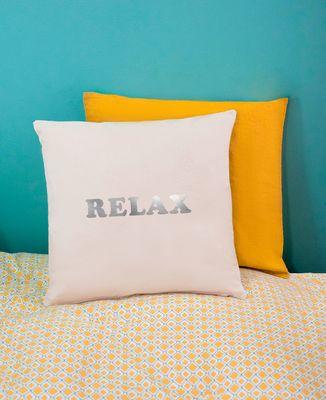 Coussin Relax (effet argenté)
