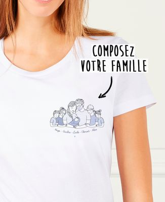 T-Shirt femme Famille câlin personnalisé