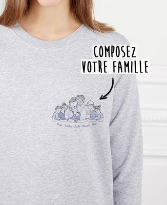 Sweatshirt femme Famille câlin personnalisé