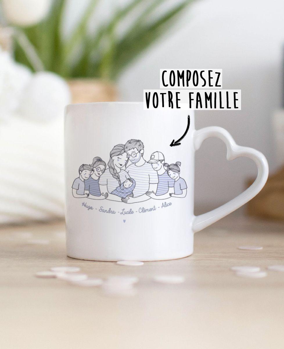 Mug Famille câlin personnalisé