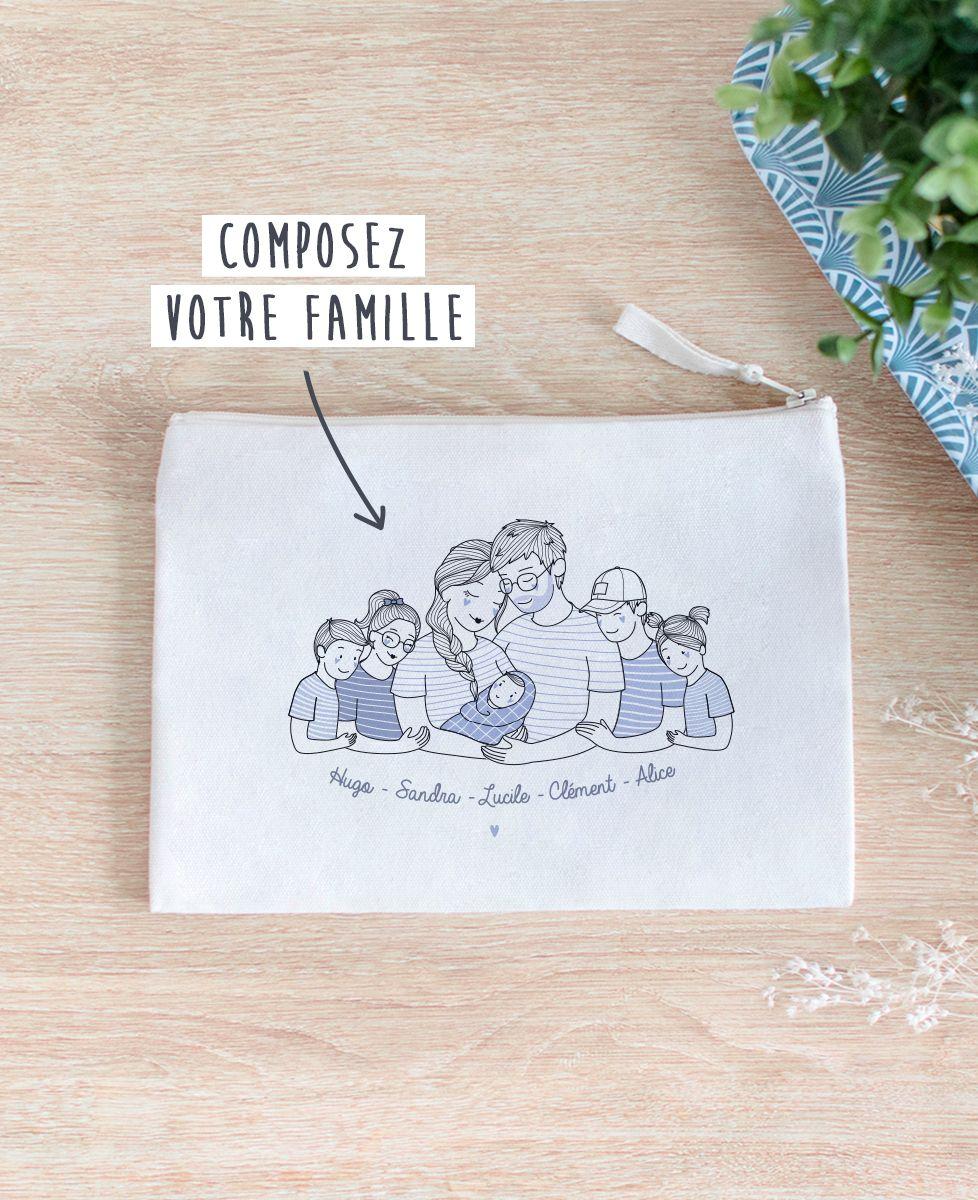 Pochette Famille câlin personnalisé