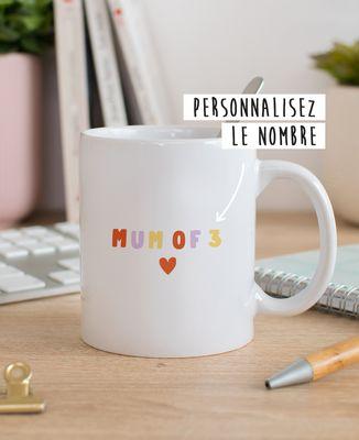 Mug Mum of nombre personnalisé