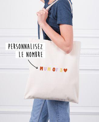 Tote bag Mum of nombre personnalisé