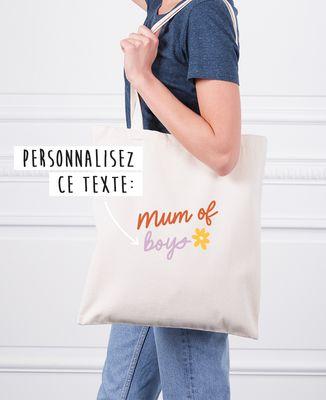 Tote bag Mum of texte personnalisé