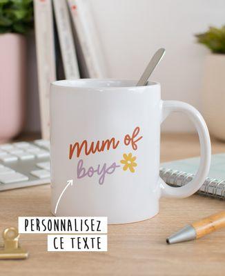 Mug Mum of texte personnalisé