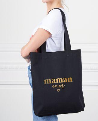 Tote bag Maman en or (effet doré)