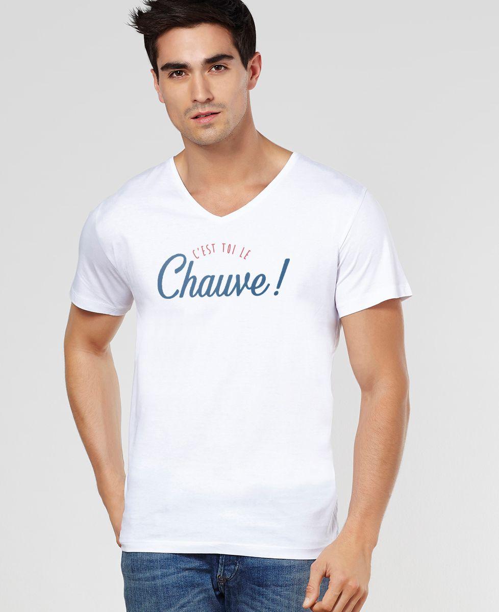 T-Shirt homme C'est toi le chauve