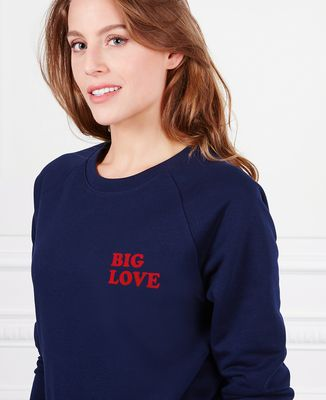 Sweatshirt femme Big Love (effet velours)