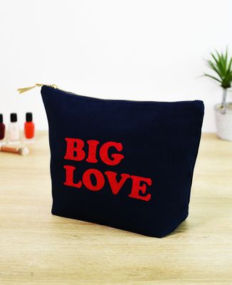 Trousse Big Love (effet velours)