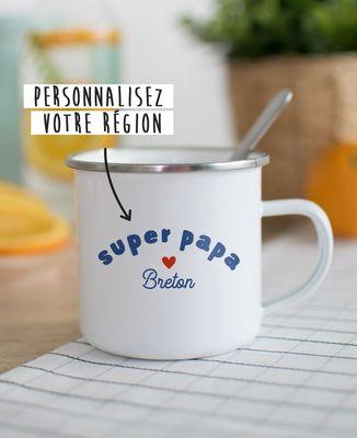 Mug Super Papa région personnalisé