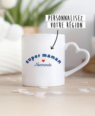 Mug Super Maman région personnalisé