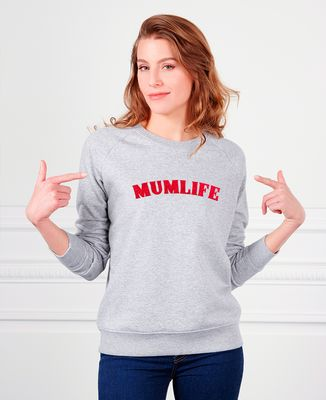 Sweatshirt femme mumlife (effet velours)