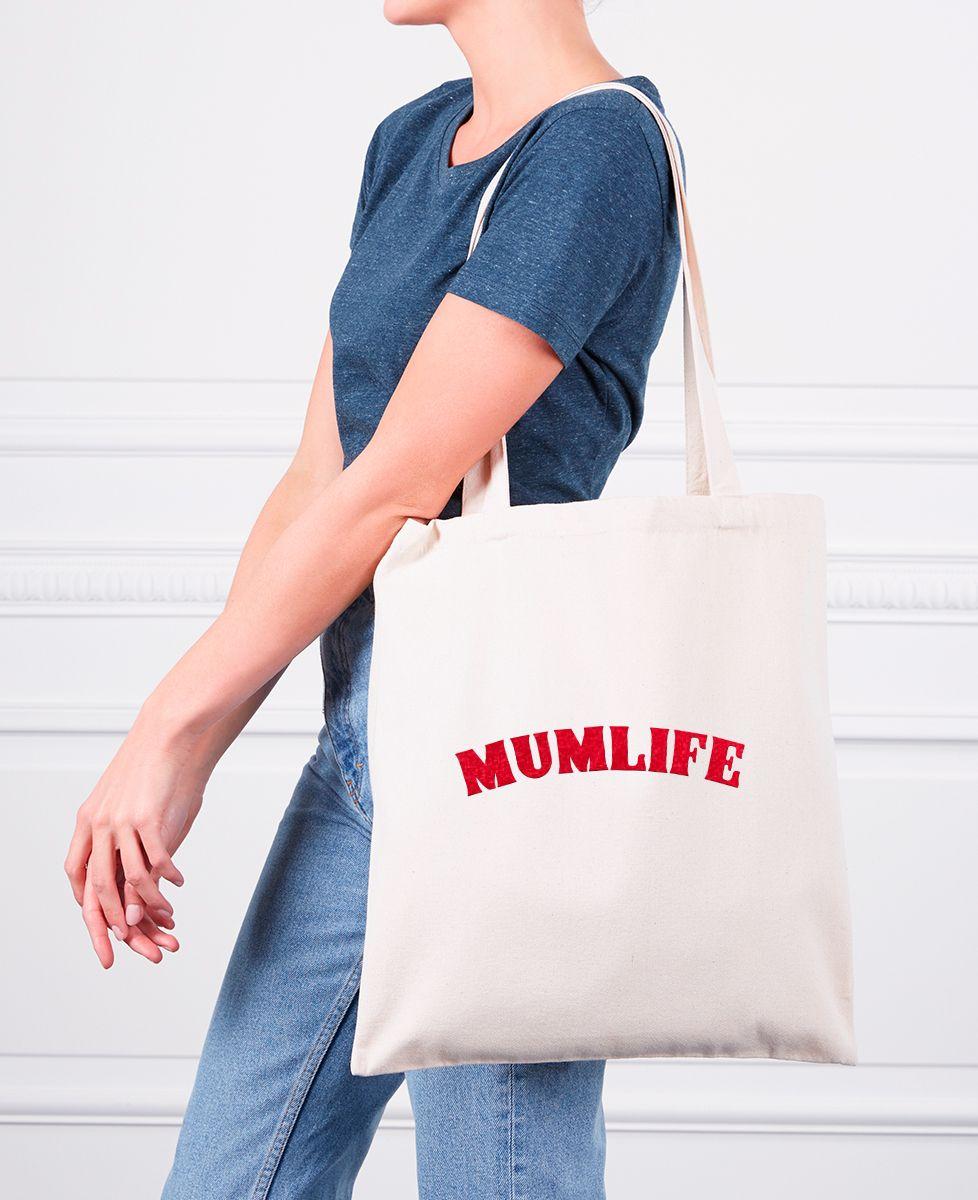 Tote bag mumlife (effet velours)