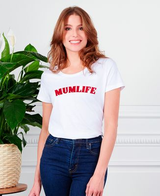 T-Shirt femme mumlife (effet velours)