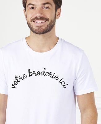 T-Shirt homme Grand message brodé personnalisé