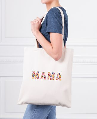 Tote bag Mama (motif floral)